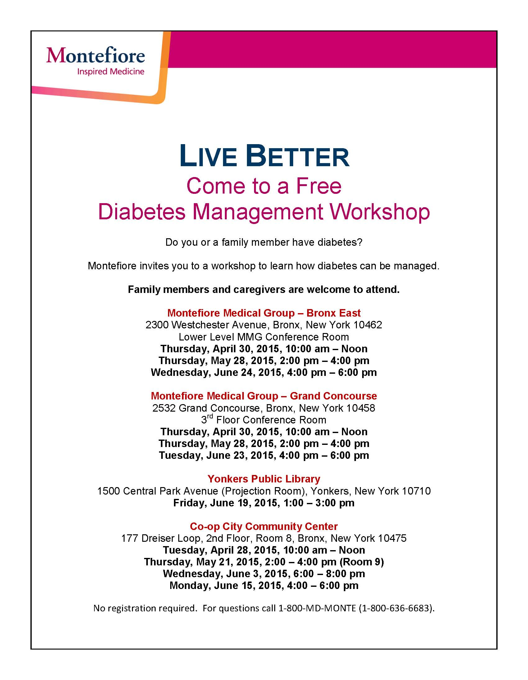 Q2 Diabetes Workshops - English 2015