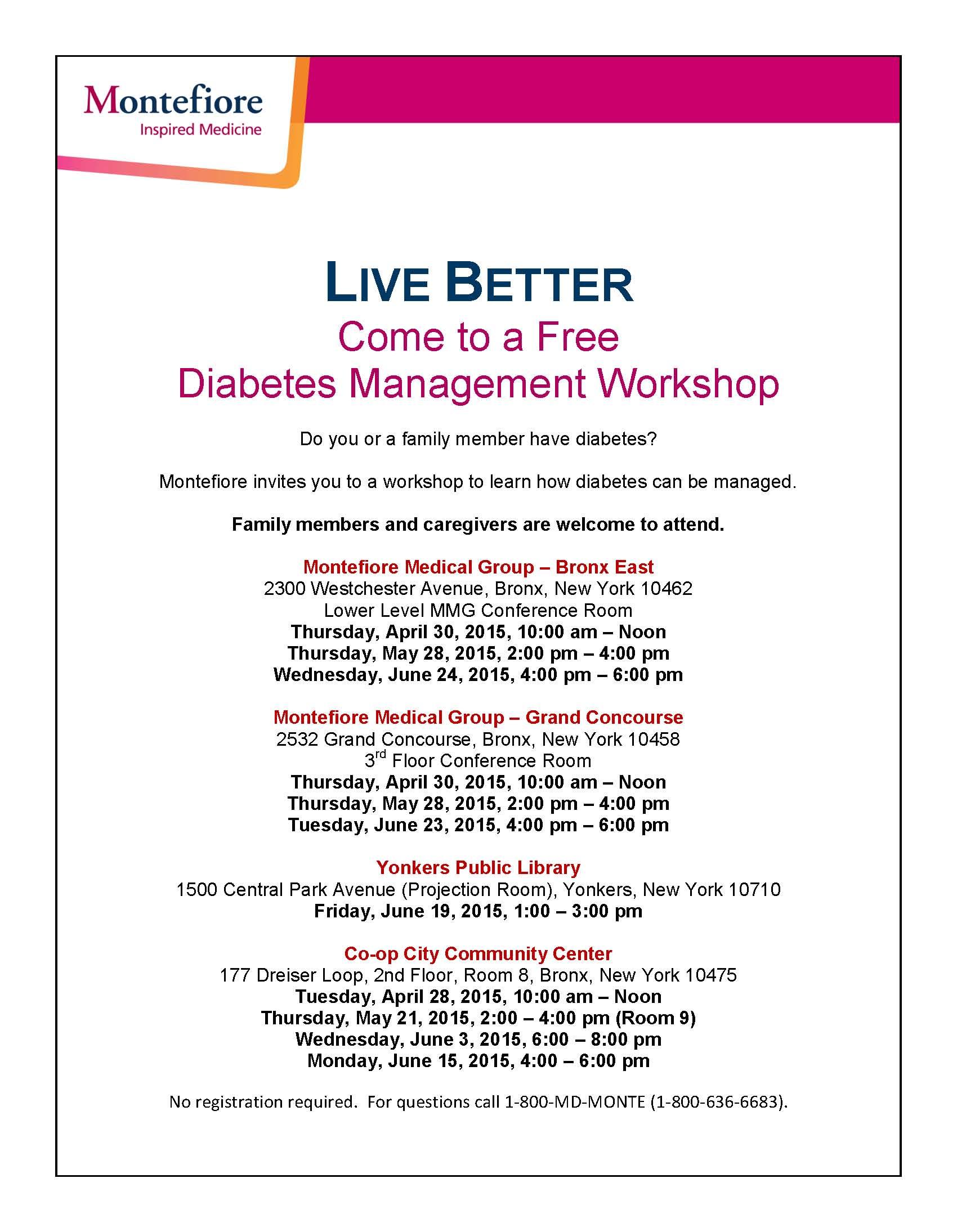Q2 Diabetes Workshops - English 2015
