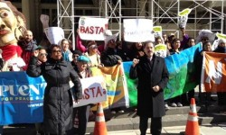 Congressman Serrano stands with NYC members of Congress, community activists and advocates to call for action on climate change and launch Takesides.org (03/12/2015)