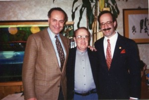 Flashback: Then Congressman Charles Schumer, Lewis Goldstein and Congressman Eliot Engel circa late 1980s