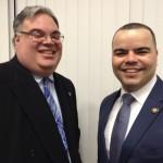 Chairman Marcos Crespo with Democratic State Committeeman Bill Weitz