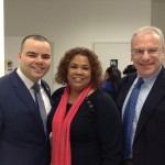 Chair Marcos Crespo with First Vice Chair Annabel Palma and Democratuc County Chair Jeff Dinowitz