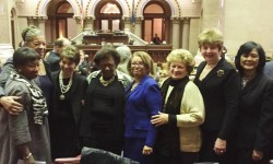 State Senators Ruth Hassell-Thompson  and  Andrea Stewart-Cousins Salute  Rockland County Regent  Judith Johnson and the other women of the State Board of Regents.