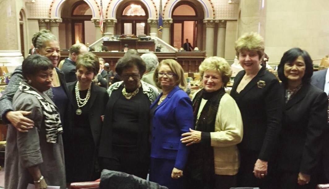 State Senators Ruth Hassell-Thompson and Andrea Stewart-Cousins Salute  Regents Chair Merryl Tisch, Rockland County Regent  Judith Johnson and the other women of the State Board of Regents.