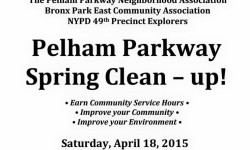 Assemblyman Mark Gjonaj invites you to a Community Park Clean-Up on Pelham Parkway on Saturday, April 18th