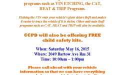 VIN Etching at Co-Op City May 16, 2015