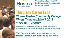 Bronx Career Expo at Hostos Community College – May 7th