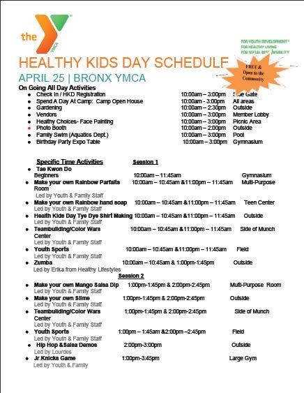 Bronx Healthy Kids Day_04252015