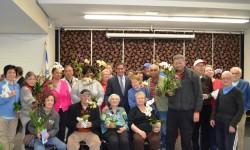 STATE SENATOR JEFF KLEIN DONATES ORCHIDS TO SENIORS AT BRONX HOUSE