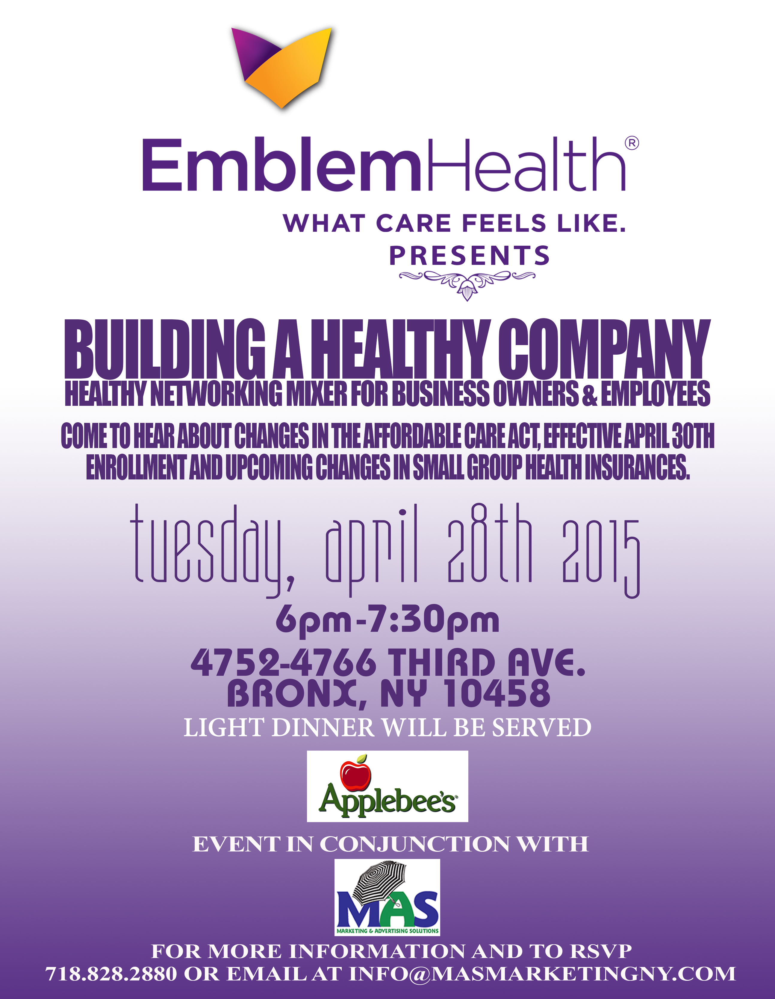 Building a Healthy Company April 28th, 6pm-7:30pm