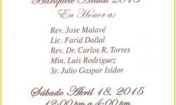 New York Hispanic Clergy Organization's Annual Banquet, April 18