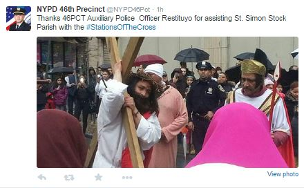 NYPD 46 Precicnt Good Friday Stations of the Cross