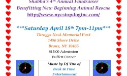 Shabba's 4th Annual Fundraiser Benefiting New Beginning Animal Rescue