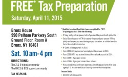 Council Member Vacca Offering Free Tax Preparation 4/11/15