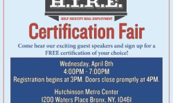 You're Invited to the Bronx H.I.R.E. Certification Fair on April 8th!