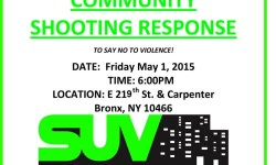 SUV – Community Shooting Response – May 1st, 6pm