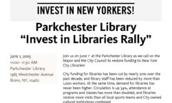 June 1 Rally to Support Libraries