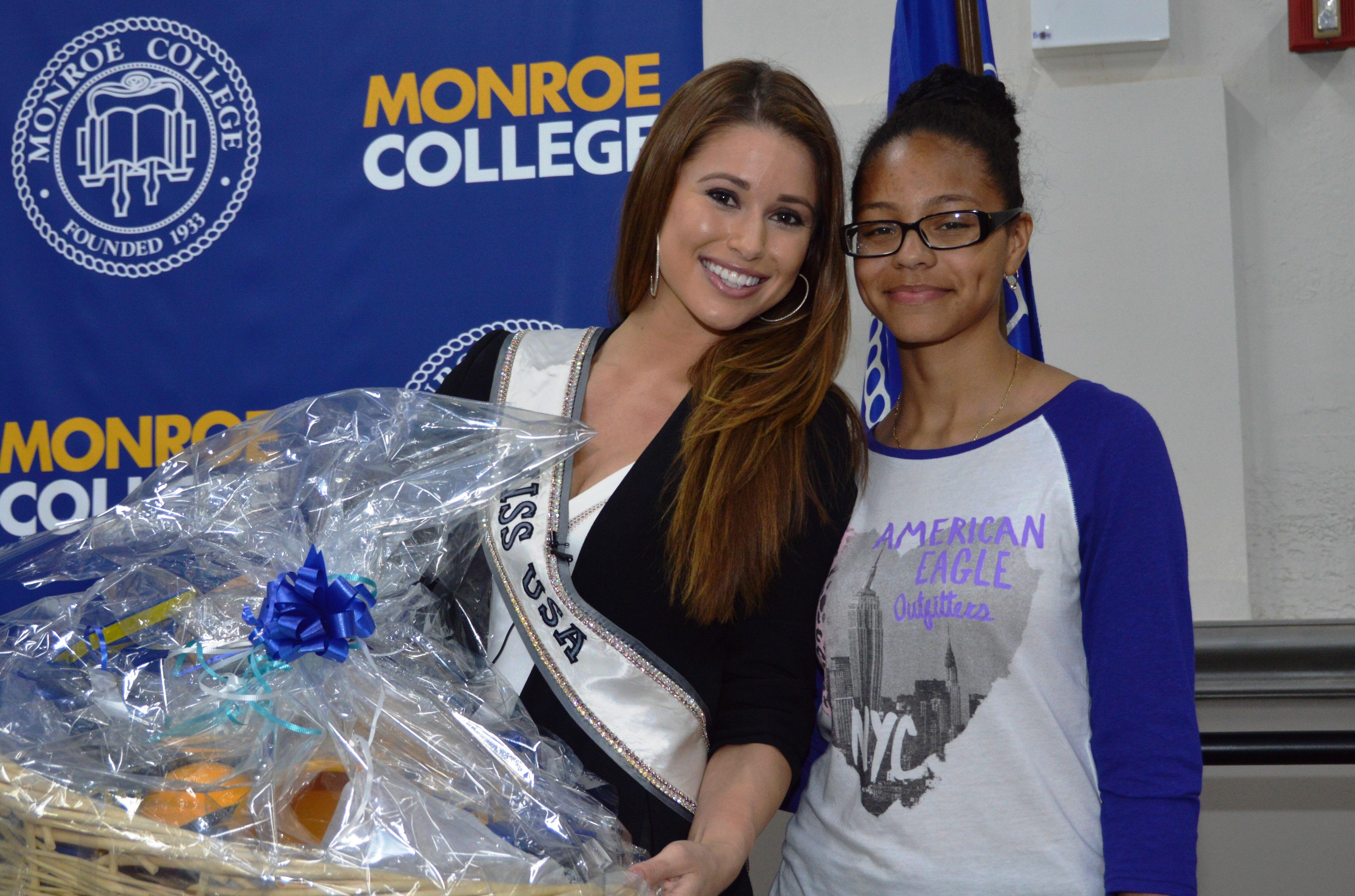 Miss USA visits Monroe College!
