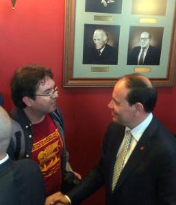 President Nishani with Rexhep Myftari Founder and CEO of Darda Media