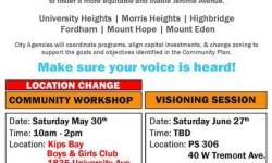 Jerome Avenue Community Planning Workshop, May 30