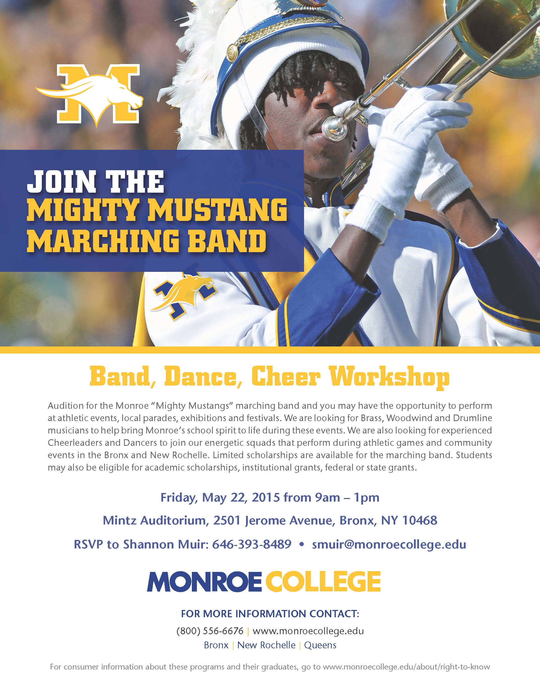 Monroe College Mighty Mustangs Auditions