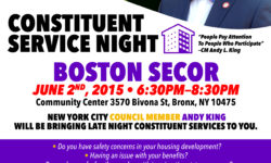 COUNCIL MEMBER ANDY KING TO BRING CONSTITUENT SERVICES DIRECTLY TO NYCHA RESIDENTS ON JUNE 2