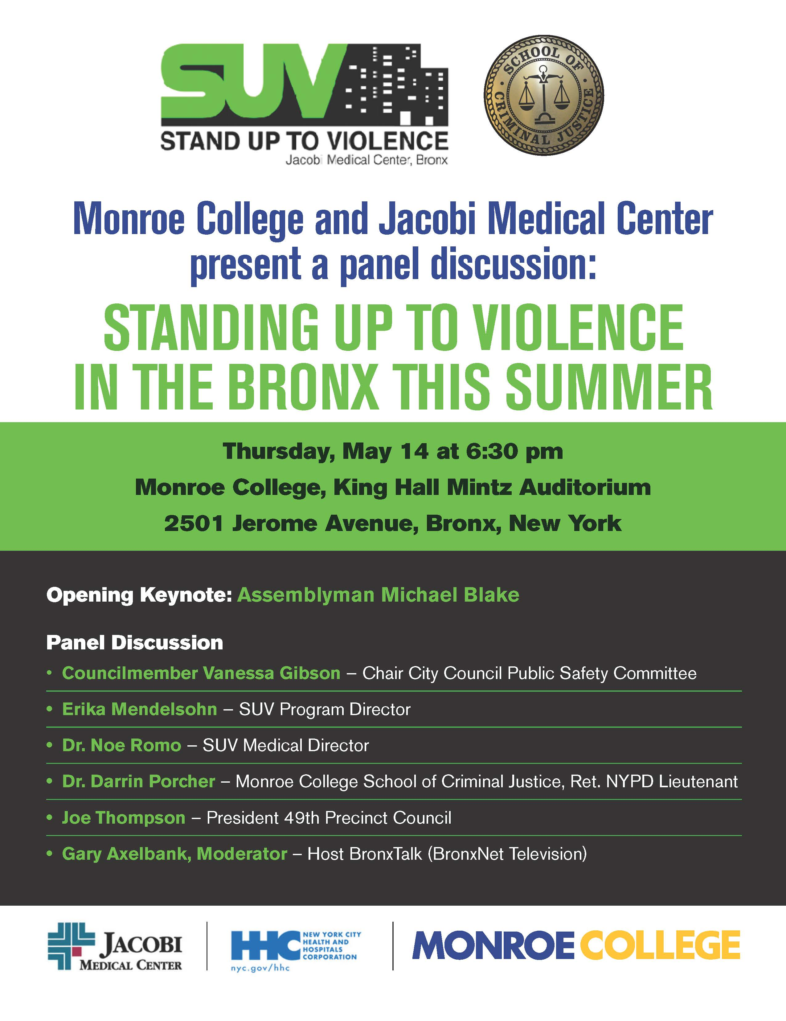 Standing Up to Violence in the Bronx – Panel Discussion
