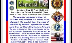 Memorial Day at Rudy Macina Peace Memorial Plaza