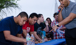 BP Diaz Hosts Eating Contest