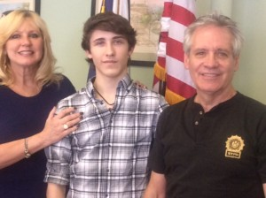 Jon-Michael Provetto with his parents Bailey and John