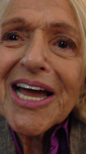 Edie Windsor, Plaintiff in United States vs. Windsor being interviewed at Pride Shabbat services