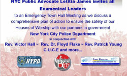 Public Advocate Calls Emergency Faith Leaders Meeting