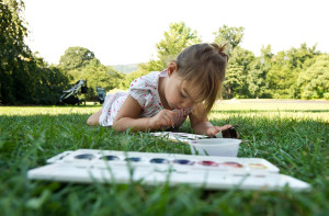 Family Art Project Go Outdoors with Van Gogh