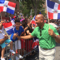 Bronx Borough President Ruben Diaz Jr. greets his constituents along the Grand Concourse during the 26th Annual Gran Parada Dominicana de El Bronx (Bronx Dominican Day Parade) on Sunday, July 26, 2015.