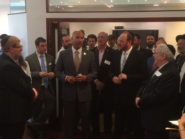 Bronx Borough President Ruben Diaz Jr. and Brooklyn City Council Member David Greenfield co-hosted a citywide Jewish/Latino networking event in Manhattan on Monday, July 27, 2015