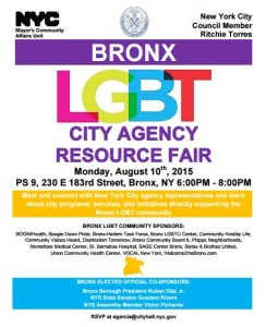 Bronx LBGT Resource Fair_8102015