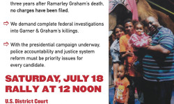National Action Network Rally for Justice for Eric Garner, July 18