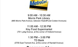 Councilman Vacca is sponsoring a MetroCard bus on Thursday July 30th