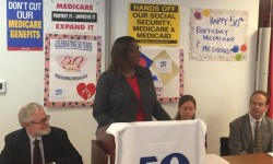 """Today we celebrate 50 years of Medicare and Medicaid, and continue the fight to expand healthcare for all!"" Credi: OPA"