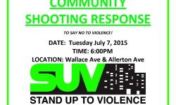 COMMUNITY SHOOTING RESPONSE! 7/7 @ 6PM