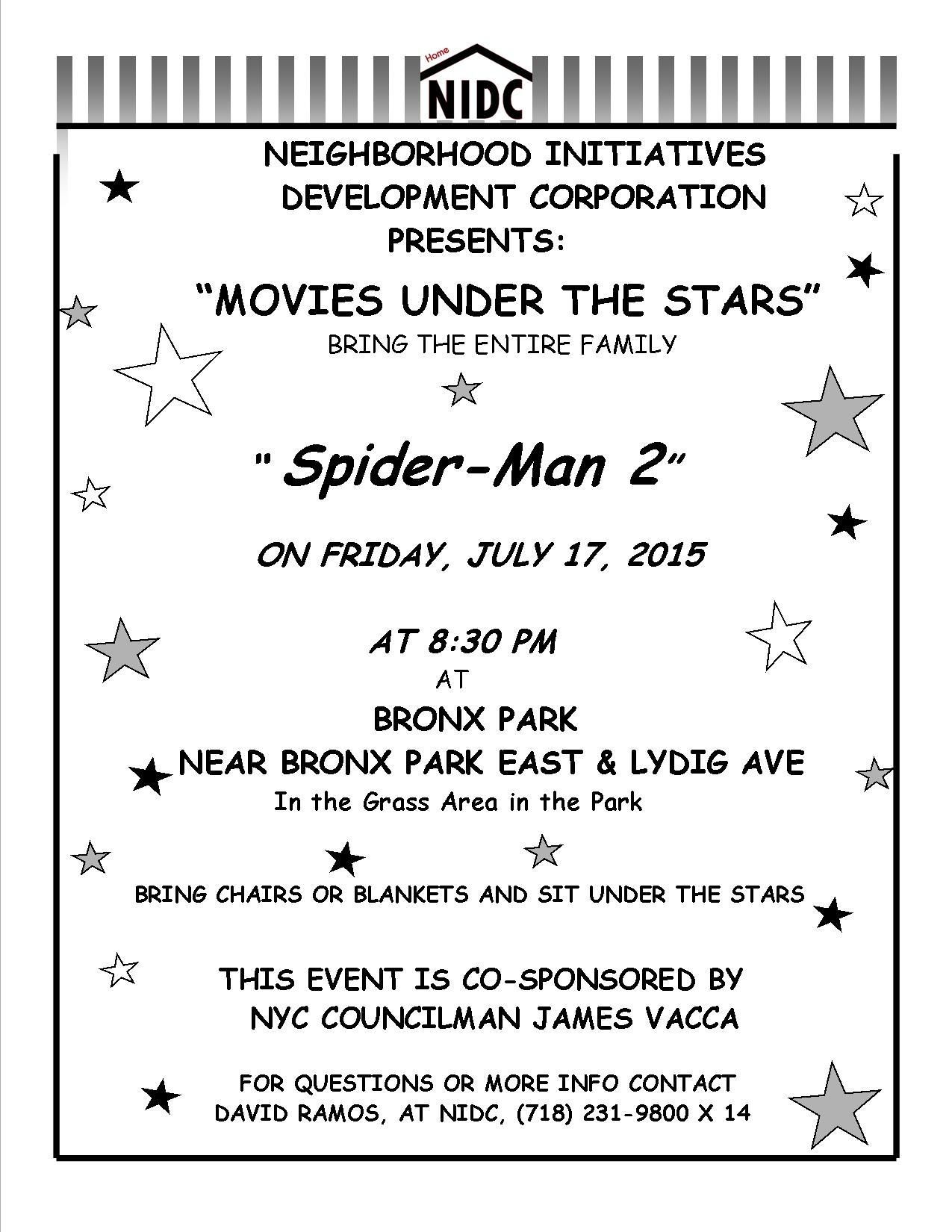 bronx park movie flyer 7-17- 2015