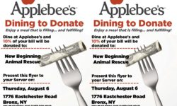 AppleBee's Dine To Donate All Day Event for New Beginning Animal Rescue