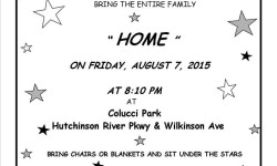 """Council Member James Vacca presents """"Movies Under the Stars"""" with a showing of """"Home"""""""