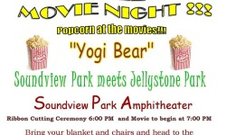 FREE MOVIE NIGHT AT THE SOUNDVIEW PARK AMPHITHEATER!! This Thursday, August 27
