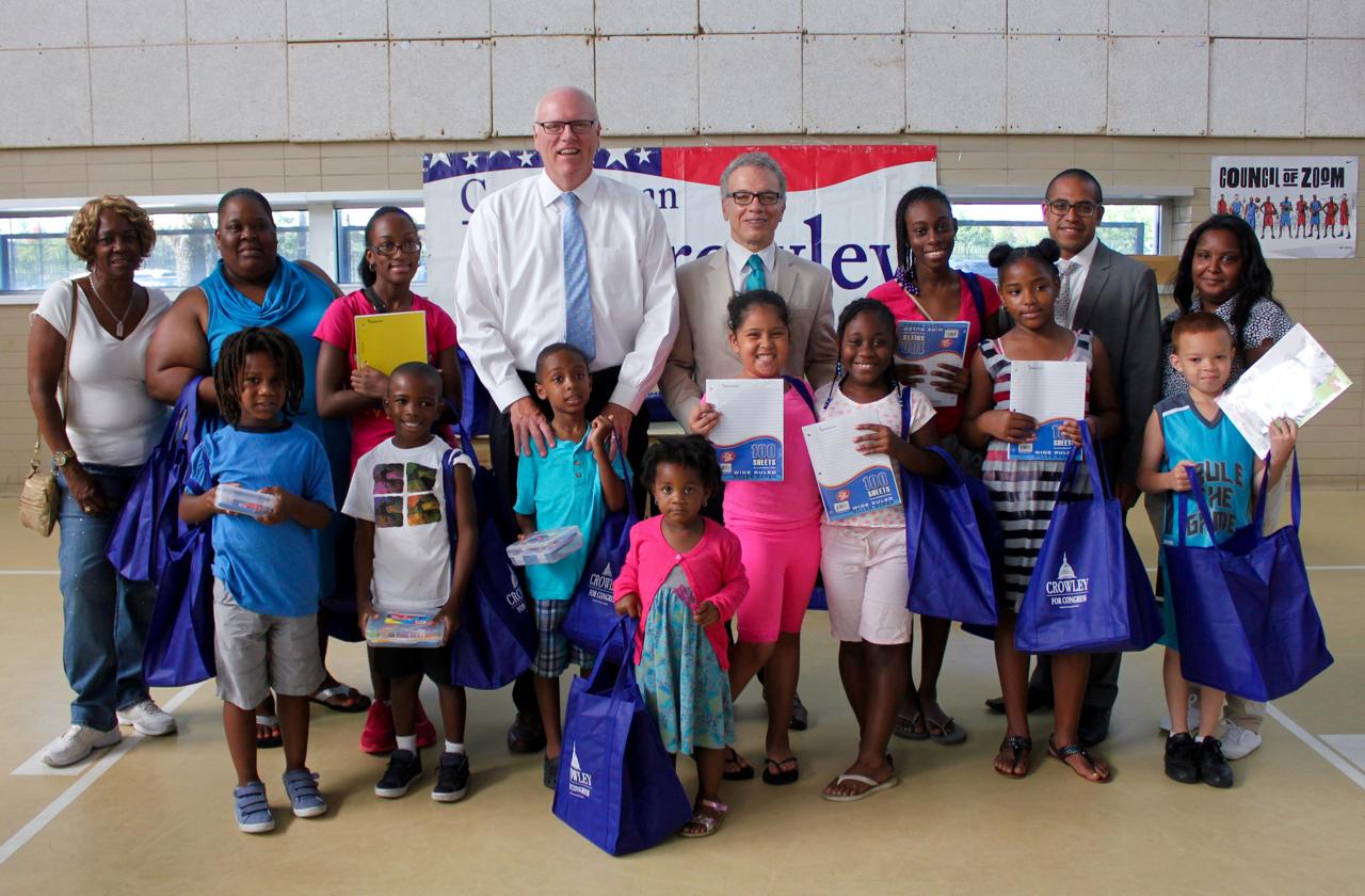 Crowley, Vacca Donate School Supplies - 1