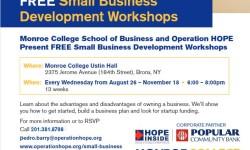 Free Small Business Workshops At Monroe College