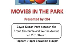 Friday August 14th CB4 Family Movie Night in the Park