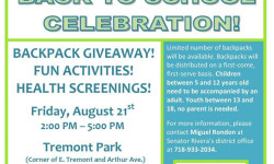 Bronx CAN Health Fair is Back with a Free Backpack Giveaway!