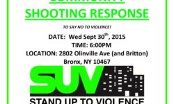 SUV: Shooting Response Wed 9/30/15 6:00pm @ Olinville & Britton