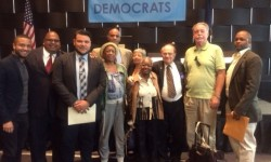 Bronx Delegation, Democratic State Committee meeting, Fall,2015 L-R James Duarte,Kenny Agosto, Anthony Perez, Bernice Williams, Mark Haynes, Diana Diaz, Linda Duke, Lewis Goldstein, Joe McManus and Gregory Delts